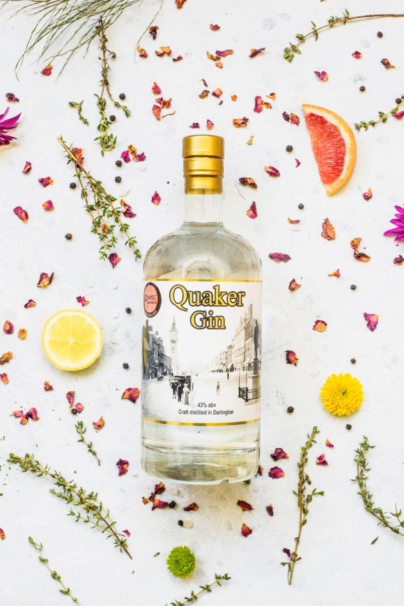 70cl Bottle of Quaker Gin – bursting with big citrus notes
