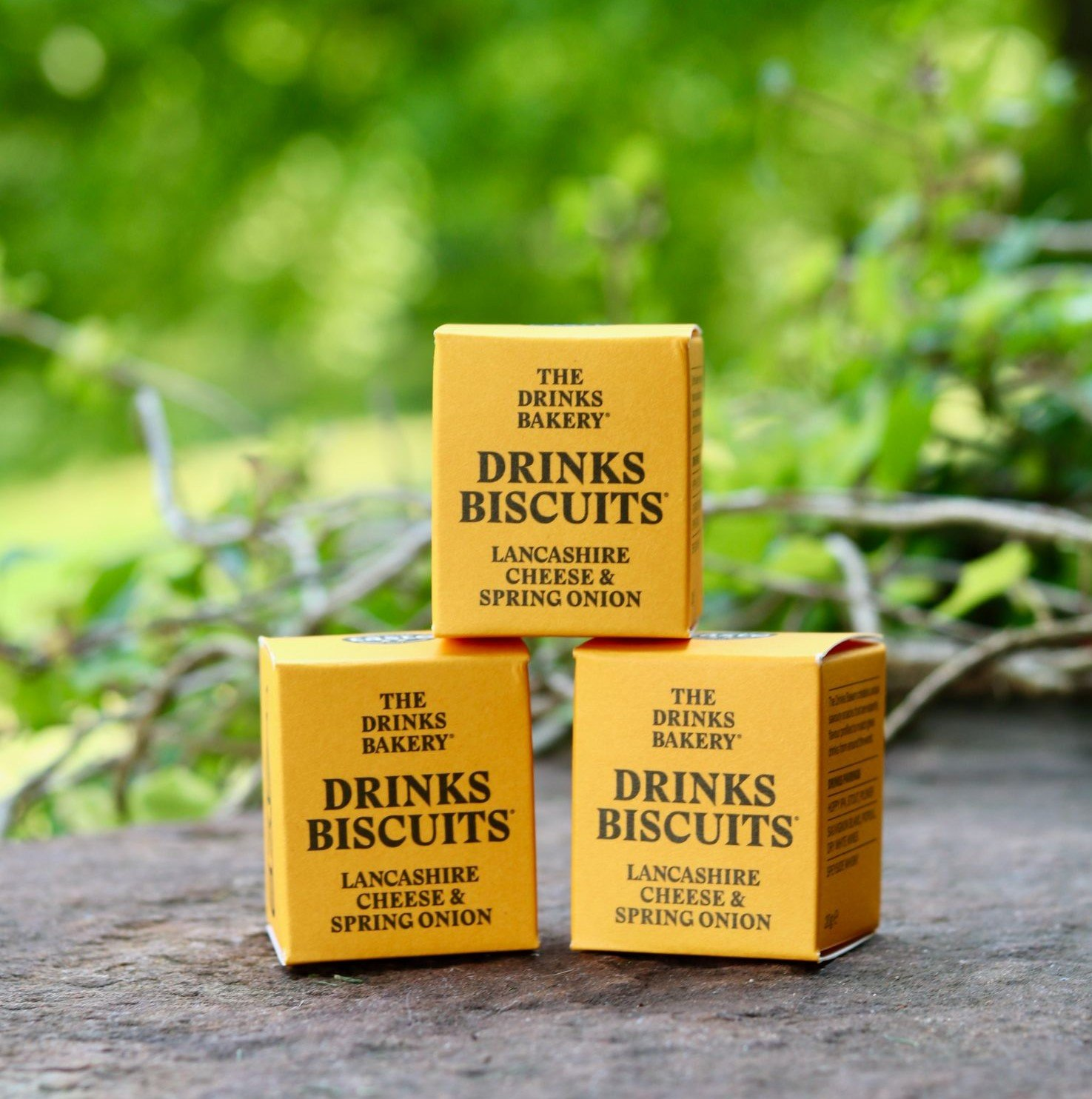Three boxes of Lancashire Cheese & Spring Onion Drinks Biscuits