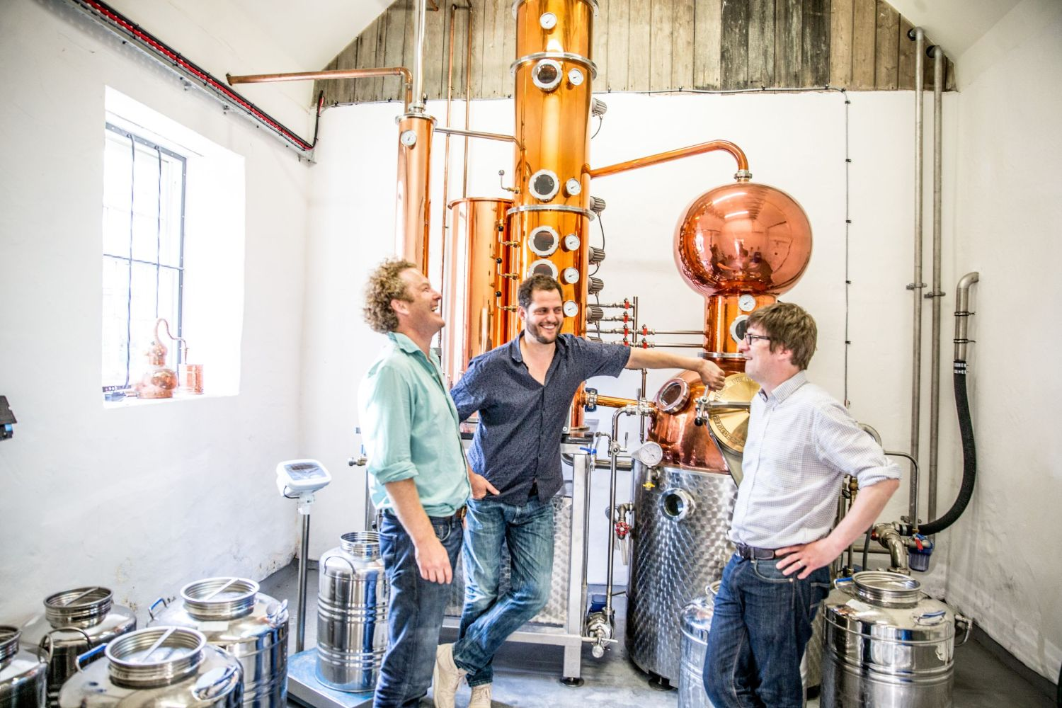 Walter, Valentine and Chris from Moorland Spirit Co