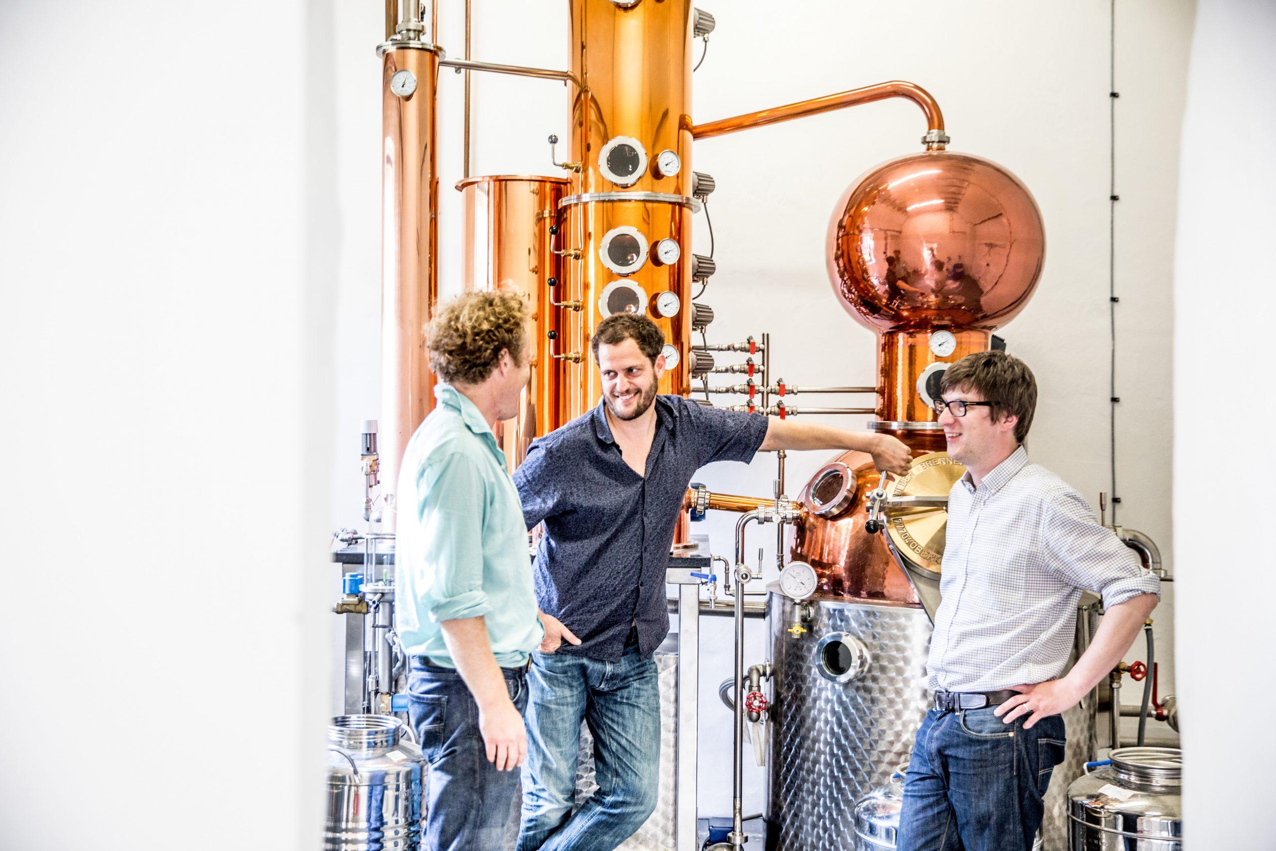 Walter, Valentine and Chris of the Moorland Spirit Company