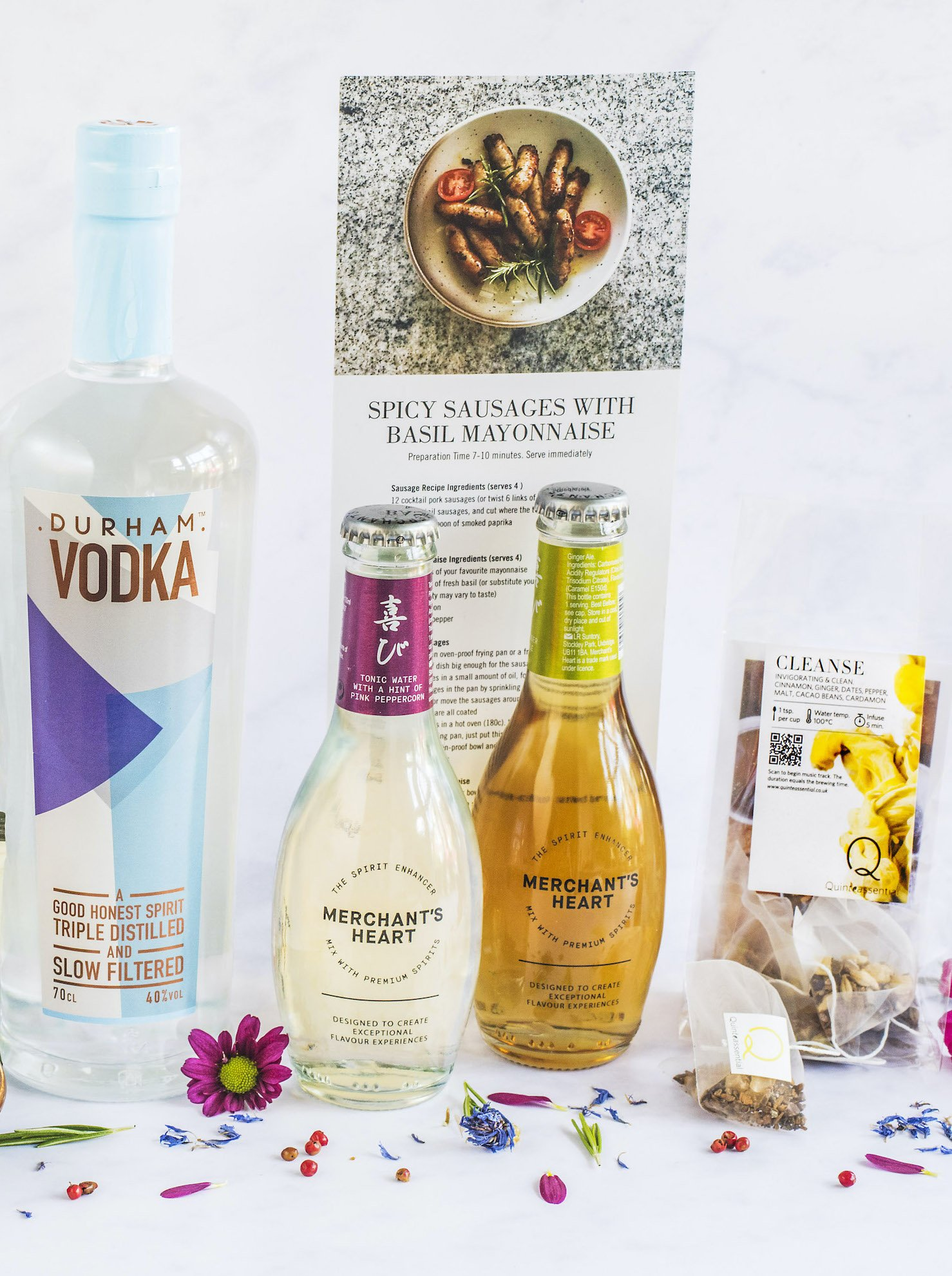 Close up of the contents of Taste Club's Vodka Box
