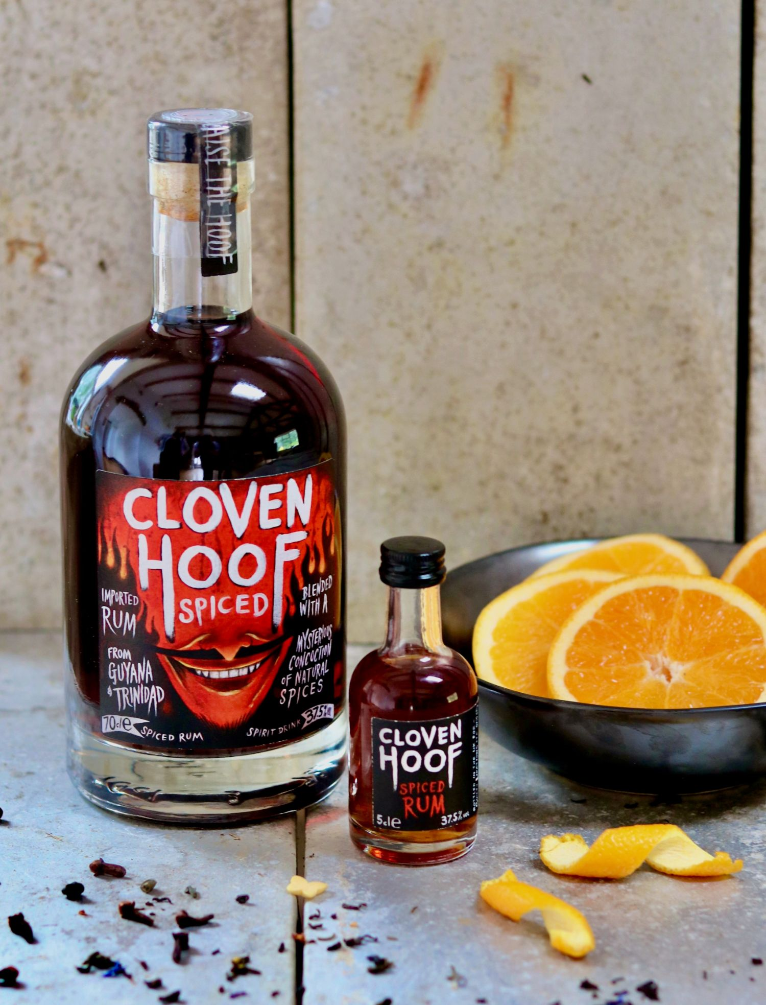 70cl Bottle of the devilishly delicious Cloven Hoof Spiced Rum.