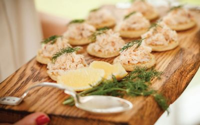 Curried Crab Blinis with Lemon & Coriander